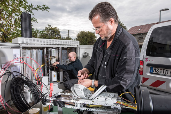 Telekom Glasfaserausbau