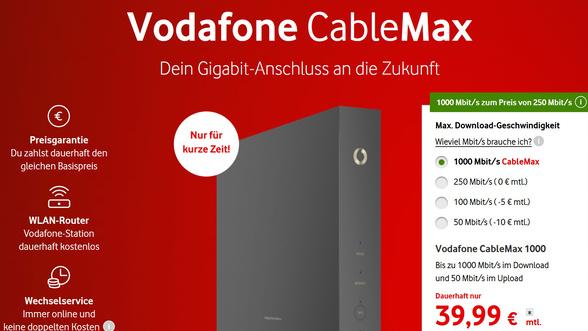 Vodafone Giga Cable Max