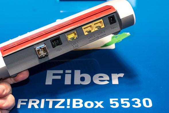 Anschlüsse an der FritzBox 5530