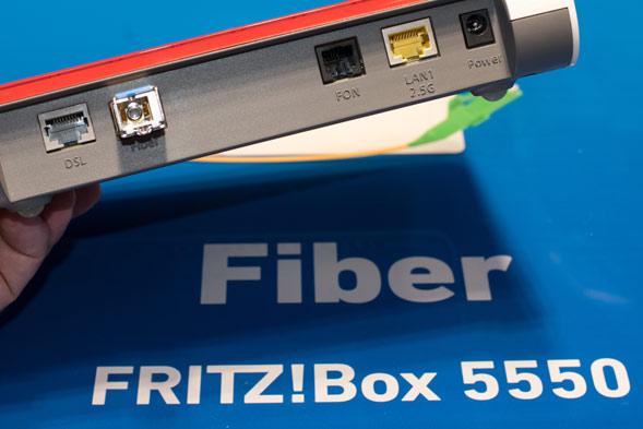 Anschlüsse an der Fritzbox 55530