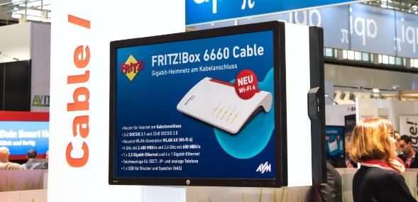 Kabel FritzBox 6660 Vorstellung auf der IFA 2019